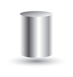 white cylinder isolated on white background vector image
