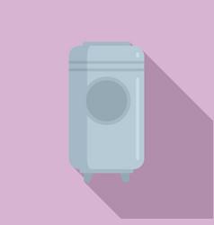 Winemaker barrel icon flat style vector