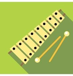 Xylophone icon flat style vector