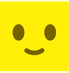 yellow square smiley button positive emotion and vector image