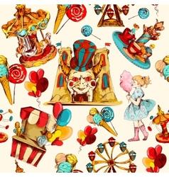 Amusement Park Seamless vector image vector image
