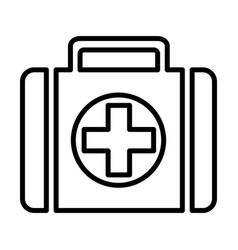 first-aid kit line icon 96x96 pictogram vector image