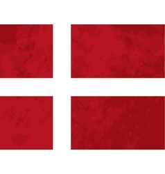 True proportions Denmark flag with texture vector image vector image