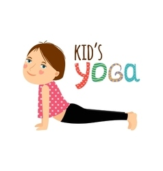 Yoga kids isolated logo design vector