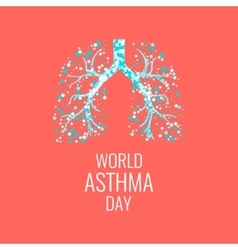 Asthma awareness poster vector image