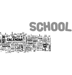 back to school strategies text word cloud concept vector image