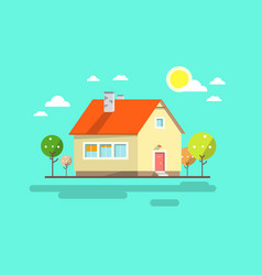 house flat design urban landscape abstract vector image