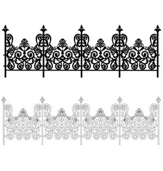 ornament for a fence vector image
