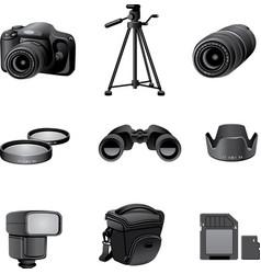 photo accessories gray vector image vector image