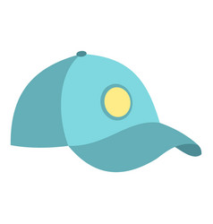 blue baseball cap icon isolated vector image vector image