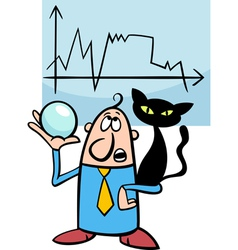 businessman diviner cartoon vector image vector image