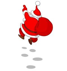 cheerful santa from back vector image