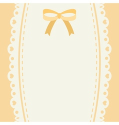 cute pastel ribbon and lace background or banner vector image vector image