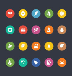 Glyphs Colored Icons 50 vector image
