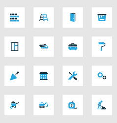 industry colorful icons set collection of paint vector image vector image