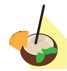 isolated coconut cocktail vector image vector image