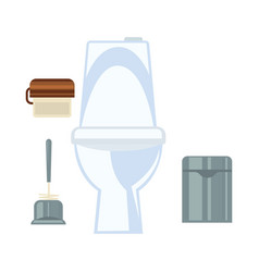 ceramic toilet and other common washroom vector image