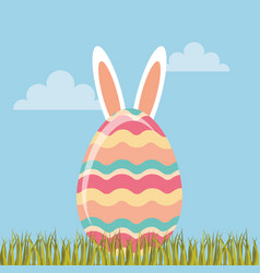 Easter egg paint icon vector