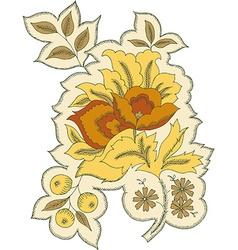 Floral design motif abstract decor vector image vector image