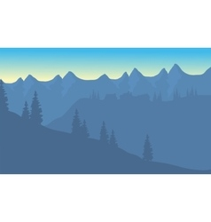 Silhouette of house on the mountain vector image vector image