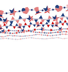 Usa flag on white background for independence day vector