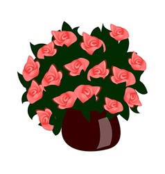 A view of a flower vector image