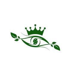 abstract eye king nature plant vision logo icon vector image