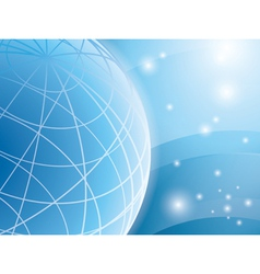 Abstract light blue background with globe vector