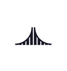 analytics logo - data business technology finance vector image
