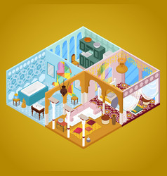 arabian interior design isometric vector image
