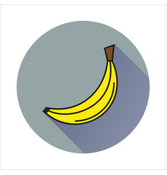 bananasimple icon on white background vector image