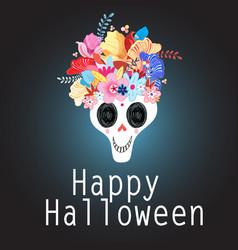 beautiful skulls vector image