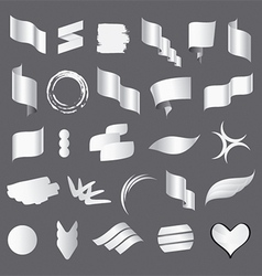 Biggest collection of white flags vector