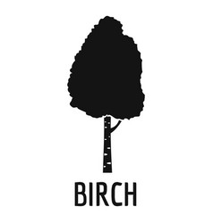 birch tree icon simple black style vector image