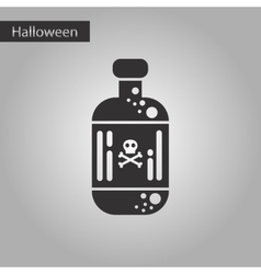 Black and white style icon potion in bottle vector