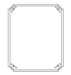 Black border frame vector