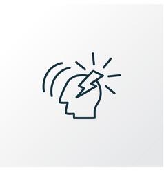 Brainstorming icon line symbol premium quality vector