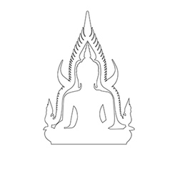 Buddha Path on the white background vector image