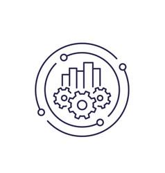 Business analytics line icon vector