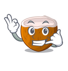 Call me half coconut isolated on the mascot vector