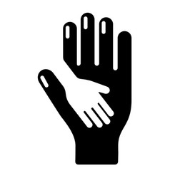 caring hand icon simple black style vector image
