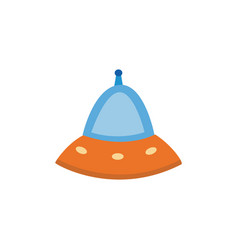 cartoon cosmic aliens spaceship or flying saucer vector image