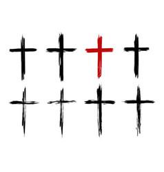 christian cross jesus christ vector image