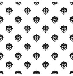 Clown head pattern simple style vector