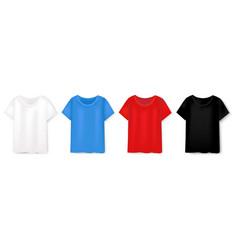 colorful t-short design template set white vector image