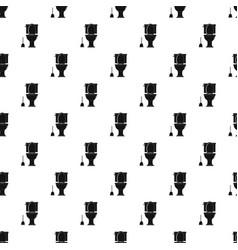 comfort toilet pattern seamless vector image