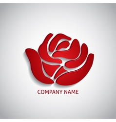 Company logo red rose vector