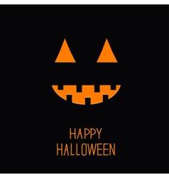 Cute pumpkin Light in the night Halloween card for vector