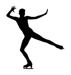Dancing woman skating vector