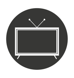 Display tv isolated icon vector